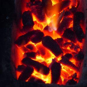maize cob charcoal